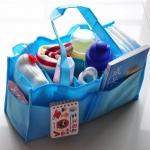 กระเป๋า bag in bag ช่องแบ่งของใช้เด็ก สีฟ้า/ชมพู