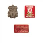 ชุดเข็มกลัดที่ระลึกลิเวอร์พูล Liverpool FC Triple Pin Set จัดชุด 3 ชิ้นของแท้