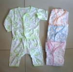 ชุดเด็กอ่อน เสื้อแขนยาว+กางเกงขายาว กระดุมหน้า คละลาย