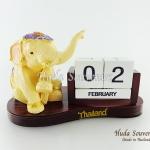ของที่ระลึก ช้างทรงเครื่องเรซิ่นปฏิทิน รูปช้างนั่ง สินค้าพร้อมส่ง
