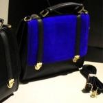 กระเป๋าแฟชั่น Xiaocai สีฟ้า ใบกลาง น่ารัก ๆ มีสายสะพายยาว พกพาสะดวก แมทช์กับทุกชุด So Cute !!