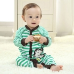 ชุดหมี Tango Jumpsuit ลายริ้วลิงถือกล้วย เด็กอ่อน size 6 9 12 18 เดือน