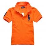 เสื้อโปโลเด็กชายสีส้ม