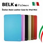 Belk Original Italian Leather Smart Cover Case For iPad Mini 4
