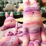 ตุ๊กตา Craft Holic ลายม่วงชมพู ( size L 100cm)