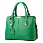 [ เปิดจอง พร้อมส่ง 28/02/17 ] - กระเป๋าแฟชั่น ถือ&สะพาย สีเขียวเข้มสีหายาก ทรงตั้งได้ ดีไซน์แบรนด์ดัง สไตล์ยุโรป หรูดูดีไม่ซ้ำใคร ช่องใส่ของเยอะ