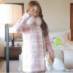 เสื้อกันหนาวสีชมพูน่ารักๆ