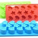 แม่พิมพ์ซิลิโคน รูปดาวและหัวใจ สำหรับฟรีซเก็บอาหารเด็กในตู้เย็น