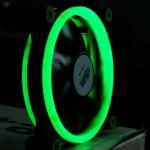 พัดลมวงแหวน Double Ring สีเขียว