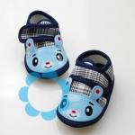 รองเท้าเด็กอ่อน รูปหมี สีน้ำเงิน