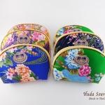 ของที่ระลึกราคาถูก กระเป๋าใส่สิ่งของจิปาถะ (1แพ็ค 12 ชิ้นคละสี) ลายดอกไม้คละลาย เบอร์ 5
