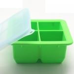 ถาดแช่แข็งเก็บอาหารทารก มีฝาปิด ช่องใหญ่ Food Storage Silicone Container