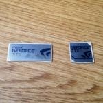 Sticker logo Nvidia Geforce GTX