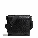 กระเป๋าผู้ชาย COACH รุ่น HERITAGE WEB LEATHER EMBOSSED C MAP BAG F71172