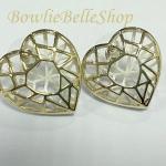 ต่างหูหัวใจเกลียวทอง Golden Heart Earrings