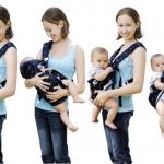 เป้อุ้มเด็ก 6 ท่า Multi-funtion Baby Carrier มีสีน้ำเงิน, แดง