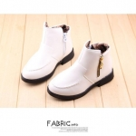 รองเท้าบู๊ทสั้นเด็ก ชาย-หญิง สีขาว Size 32-37
