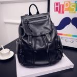 [ พร้อมส่ง ] - กระเป๋าเป้แฟชั่น นำเข้าสไตล์เกาหลี สีดำคลาสสิค สุดเท่ ดีไซน์สวยเก๋ไม่ซ้ำใคร สวยสุดมั่น เหมาะกับสาว ๆ ที่ชอบกระเป๋าเป้ใบกลางค่ะ