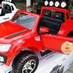 DK3646R รถแบตเตอรี่เด็กนั่งไฟฟ้ารถกระบะฟอร์ด Ford Ranger 2มอเตอร์ มีโช๊ค สีแดง
