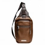 กระเป๋าผู้ชาย COACH THOMPSON LEATHER DAY PACK F71185 SADDLE