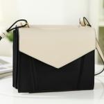 กระเป๋าแฟชั่น Axixi รหัสสินค้า AX104 สี ดำ - ครีม