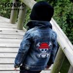 ISSO KIDS เสื้อคลุม แจ๊คเก็ตยีนส์เท่สุดๆ ด้านหลังปักลาย One Piece วันพีช size 9/11/13