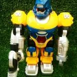 หุ่นยนต์ใส่ถ่านมีไฟมีเสียงเดินได้สีน้ำเงิน