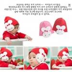 หมวกไหมพรมเด็กอ่อน มีปิดหูสองข้างรูปกระต่ายน่ารัก