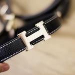 เข็มขัด หัวเข็มขัดตัว H สีทอง หนังเทียม สีดำ เอว 21-27 นิ้ว สำหรับน้องๆ 3-7ปีค่ะ