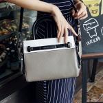 [ เปิดจอง พร้อมส่ง Hi-End 20/03/16 ] - กระเป๋าแฟชั่น นำเข้าสไตล์เกาหลี สีทรีโทน ขาวเทาดำ ใบกลางทรงตั้งได้ ดีไซน์แบรนด์ดัง งานหนังคุณภาพ แบบสวยเรียบหรู ดูดีทุกโอกาสการใช้งาน สาวๆห้ามพลาด