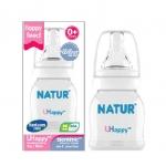 ขวดนม Natur UHappy ขนาด 2 oz.ทรงมาตราฐาน