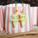ต่างหูดินปั้น Korikuma Ice-cream