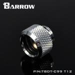 Barrow Fitting C99 T12 สีเงิน ท่ออคริลิค12mm