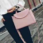 [ พร้อมส่ง ] - กระเป๋าแฟชั่น ถือ&สะพาย สีชมพู ใบกลางๆ ดีไซน์สวยเท่เก๋ๆ งานหนังคุณภาพ เหมาะสำหรับสาวๆ Working Woman เท่ๆสุดๆน่าใช้