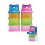 กระปุกแบ่งนมผง Natur 3 ชั้น รูปหมี BPA-Free