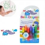 Bath time buddies สีเขียนผนังและร่างกายลบได้สำหรับเด็ก Bath Crayons