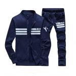 ชุดเสื้อแจ็คเก็ต-กางเกงขายาว : สีน้ำเงิน-ดำ รุ่น KOMA ST0003