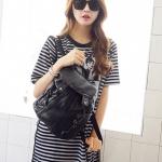 [ พร้อมส่ง Hi-End ] - กระเป๋าเป้แฟชั่น นำเข้าสไตล์เกาหลี สีดำคลาสสิค สุดเท่ ดีไซน์สวยเก๋ไม่ซ้ำใคร สวยสุดมั่น เหมาะกับสาว ๆ ที่ชอบกระเป๋าเป้ใบกลาง งานเนี้ยบสวยมากค่ะ
