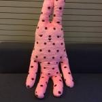 คราฟท์ฯ สีกระต่ายชมพูลายจุด (size L 100 ซม.) สำเนา