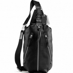 เปิดจอง กระเป๋าผู้ชาย COACH THOMSON LEATHER SLING PACK BLACK F70360