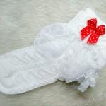 ถุงเท้าเด็กหญิง สีขาวระบายลูกไม้ สำหรับเด็ก 3 - 9 ปี