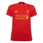 เสื้อลิเวอร์พูล 2016-2017 ทีมเหย้าผู้หญิงของแท้ Liverpool FC Ladies Short Sleeve Home Shirt 16/17