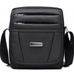 [ พร้อมส่ง ] - กระเป๋าแฟชั่น สะพายข้าง สีดำ ใบกลางๆ ช่องใส่ของเยอะมากๆ น้ำหนักเบา ดีไซน์เก๋ เท่ไม่ซ้ำใคร