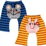 กางเกงก้นบานเด็กเล็ก หนูกระต่ายลายริ้ว (ขายาว)