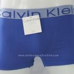 กางเกงในชาย Calvin Klein Boxer Briefs Free Size: สีน้ำเงิน ขอบเทาCK
