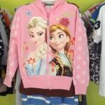 เสื้อกันหนาว สกรีน ELSA+ANNA *ชมพูอ่อน* ไซส์ 100