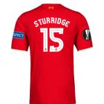 เสื้อลิเวอร์พูลยูฟ่ายูโรป้าลีกรอบรองชนะเลิศ STURRIDGE 15 ฟรีอาร์ม Respect