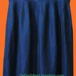 ขายแล้วค่ะ D14:Vintage dress ผ้าไหมผสม สีน้ำเงิน ปักลายสวย ๆ ที่เชิงกระโปรงค่ะ&#x2764