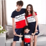 เสื้อครอบครัว - เสื้อยืดแฟชั่น ลาย Beach Party