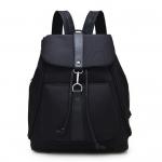 [ พร้อมส่ง ] - กระเป๋าเป้แฟชั่น สีดำ ดีไซน์เก๋เท่ ๆ ใบกลางๆ ช่องใส่ของเยอะ เหมาะสำหรับพกพา ที่ต้องการความคล่องตัว